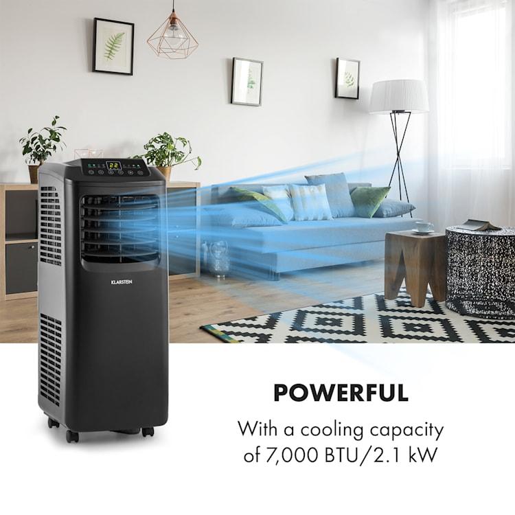 Pure Blizzard Smart 7k, mobil légkondicionáló, 7000 BTU / 2,1 kW, A energiahatékonysági osztály, távirányító Fekete | 7.000 BTU