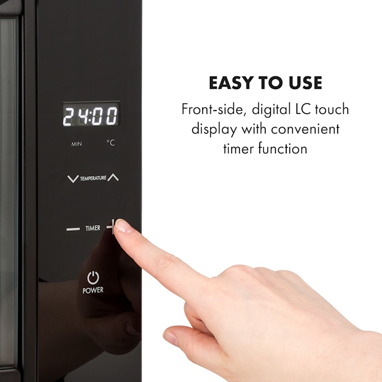 Mega Jerky, Essiccatore, display touch LC, timer, 50-80°C, 650W