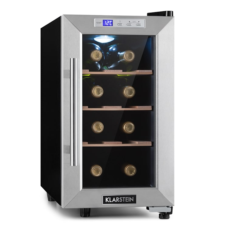 Reserva 8 Uno, frigider pentru vin, 23 litri, 8 sticle, 11 - 18 °C, 26 dB, oțel inoxidabil