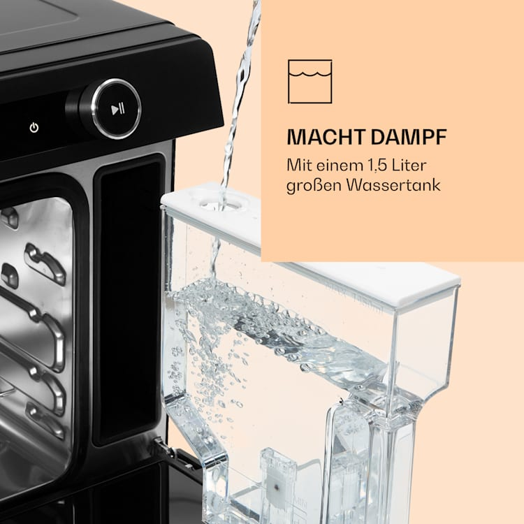 VaporChef Dampfbackofen 230 °C 31 l Drehregler EEK A