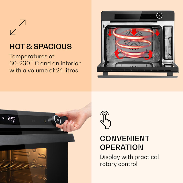 VaporChef, parna pećnica, 230 ° C, 24 l, dodirna upravljačka ploča