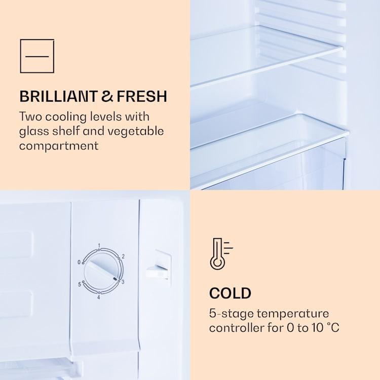 CoolArt 79L Combinação frigorífico/congelador Classe de eficiência energética F compartimento congelador 9L porta personalizada Pastel