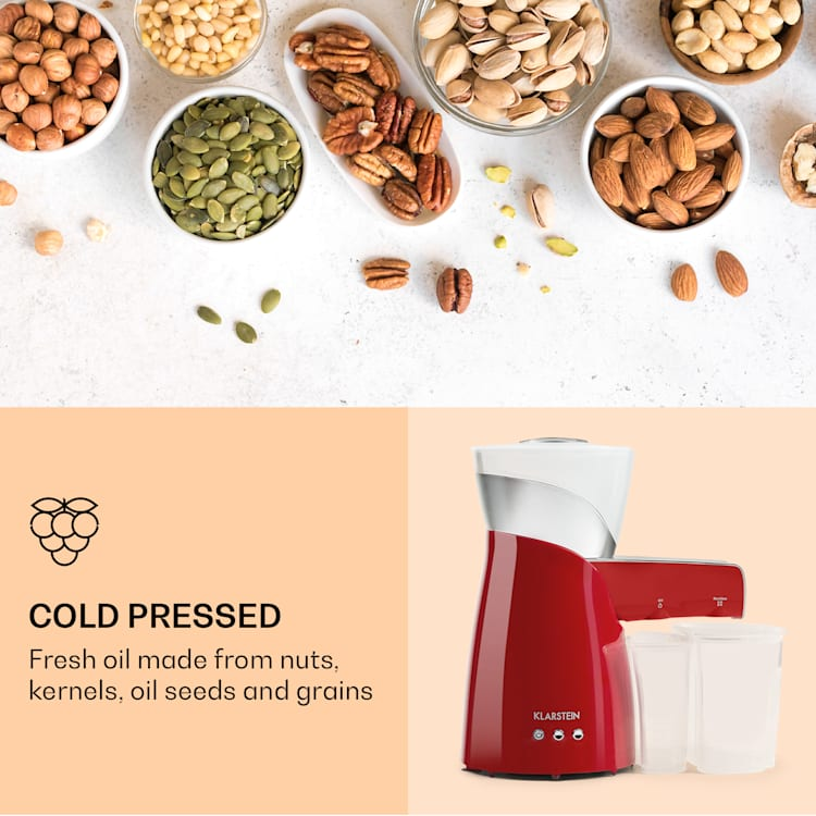 Olivia oliepers koude pers 650w 700g 2 persschroeven Rood