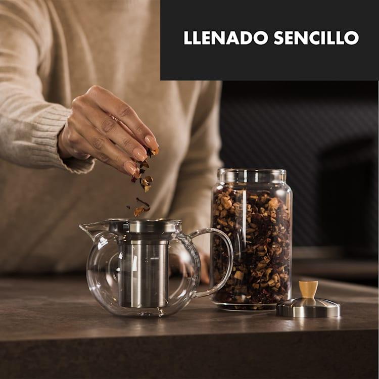 Sencha Tetera 0,65 L Filtro de acero inoxidable Vidrio de borosilicato Tapa  0,65 Ltr