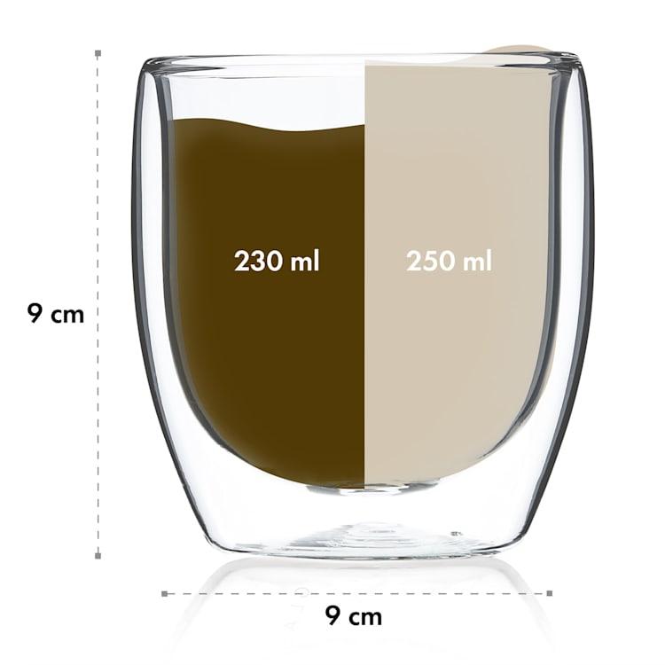 Altino verres thermos à double paroi en verre borosilicaté fait main 250 ml