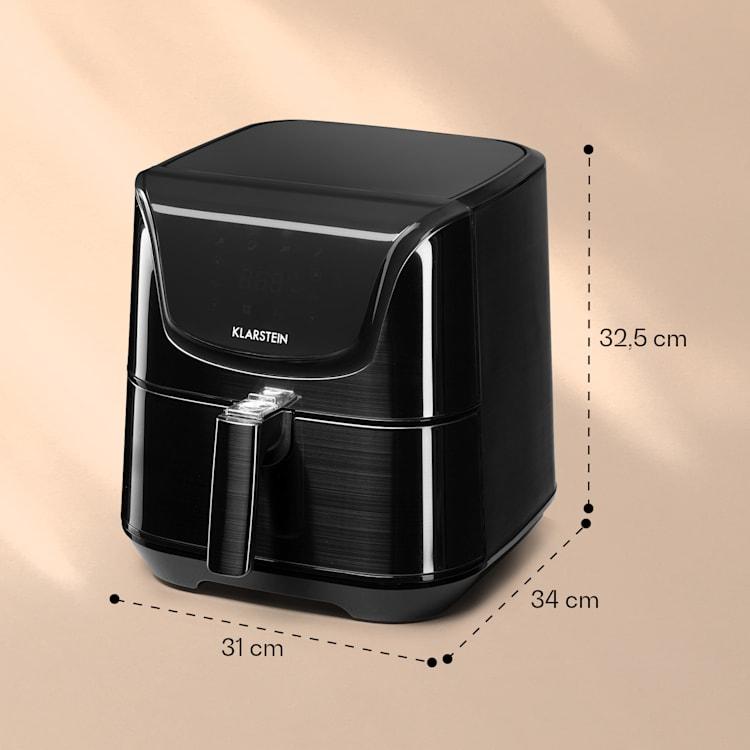 Aero Vital deluxe Friteuse à air chaud 5,4L 1700W inox argent Noir