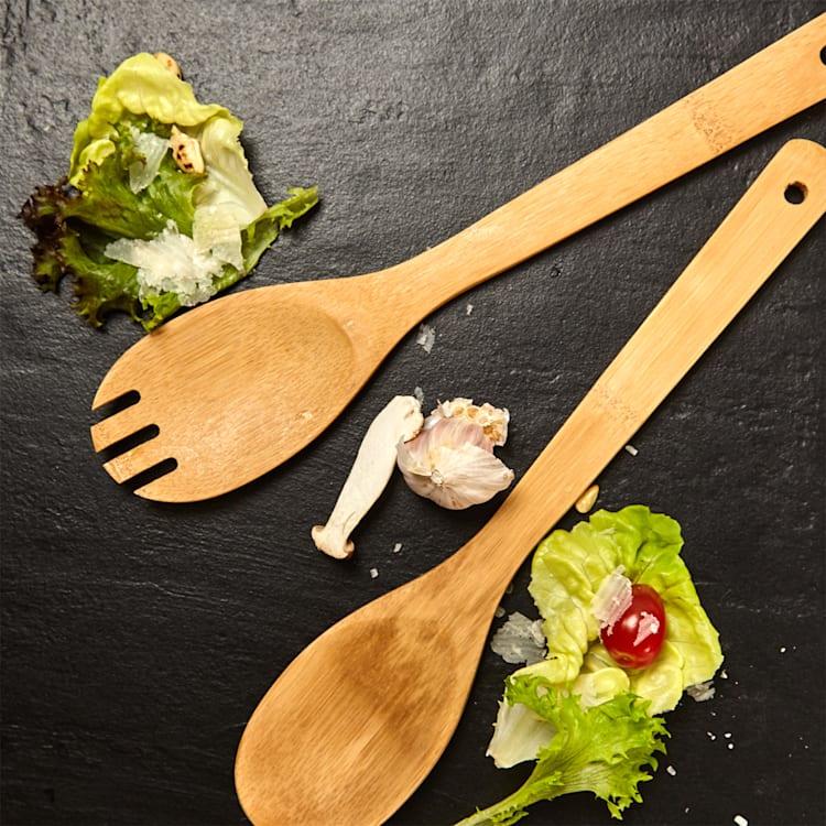 Accessoires de cuisine Cuillère de cuisine et spatule jeu de 6 en bambou durable