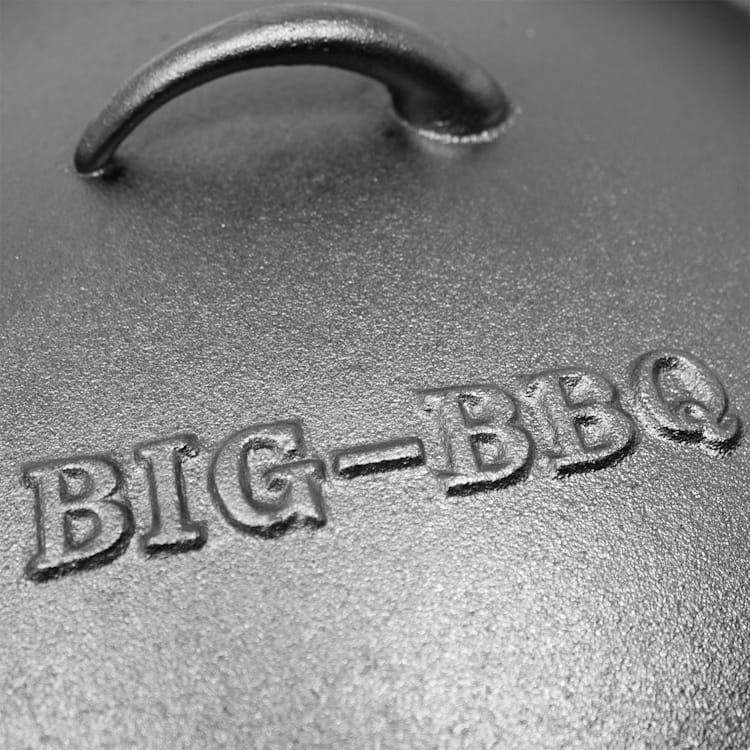 Olla Galloway Dutch Oven 6.0 BBQ hierro fundido marcado tamaño M / 6 qt ca. 7 Ltr / 6 qt