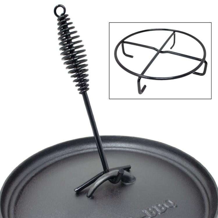Galloway Dutch Oven 9.0 BBQ Pot Fonte Pieds de support Taille L / 9 qt ca. 10 Ltr / 9 qt