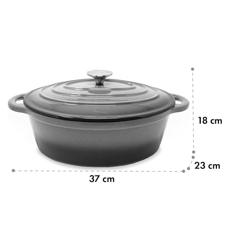 Podolica sauteuse 4 litres Casserole en fonte émaillée ovale deux poignées Ø 28 cm