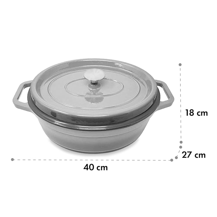 Podolica sauteuse 5,5 litres Casserole en fonte émaillée ovale deux poignées Ø 33 cm