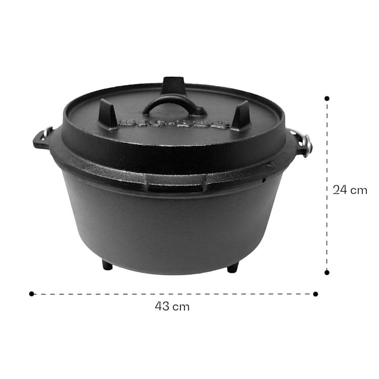 Olla Guernsey Premium Dutch Oven 12.0 BBQ hierro fundido pies de apoyo tamaño XL / 12 qt ca. 13,5 Ltr / 12 qt
