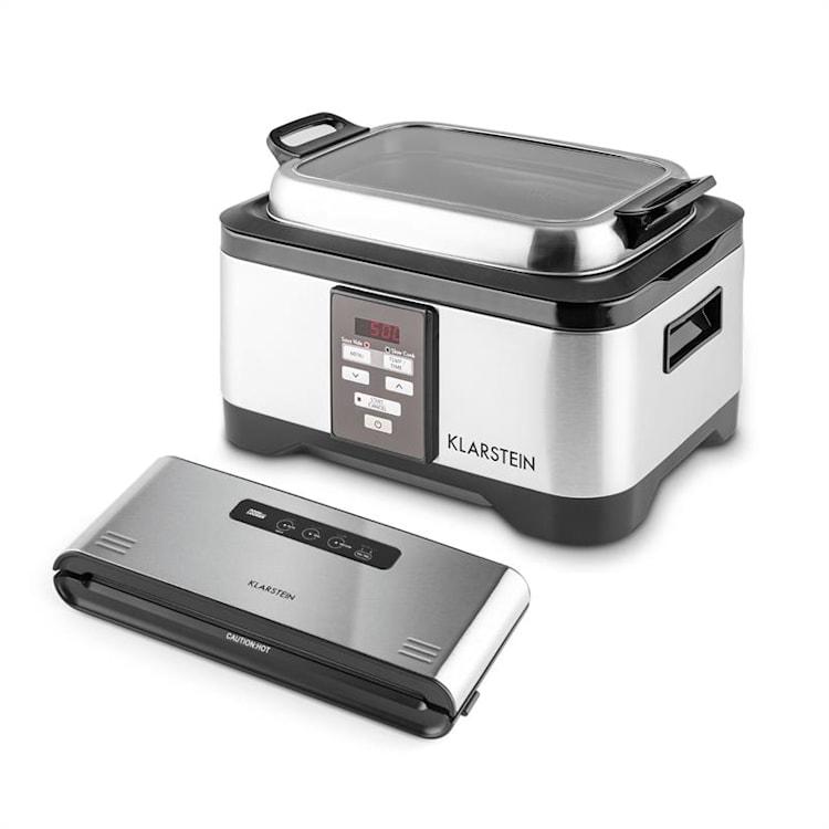Klarstein Tastemaker + Foodlocker Pro, sada na vakuové vaření (sous-vide), elektrický hrnec + vakuovačka, 550 W / 6 l, 0,8 bar