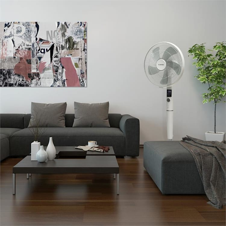 "Silent Storm, комплект вертикални вентилатори, 16"" (41 cm) 5-листова перка, бял"