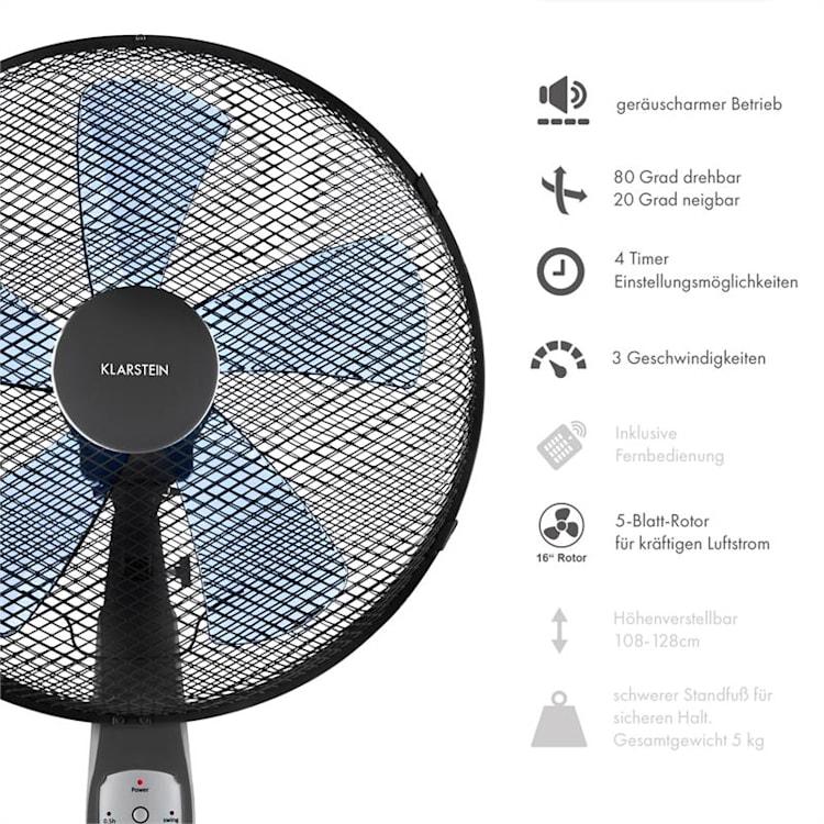 Summerjam, 2 x állványos ventilátor, két ventilátor, 50 W, 3 fokozat, szürke