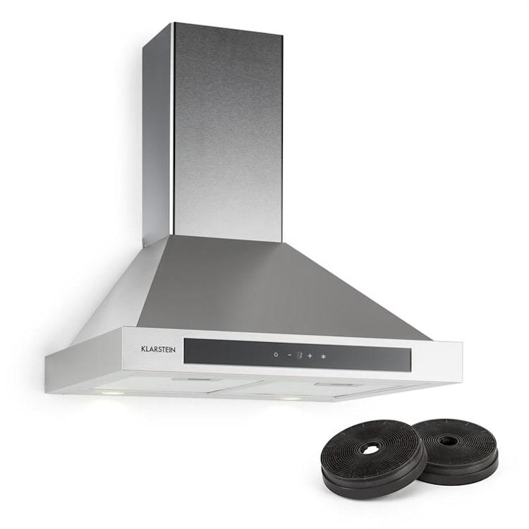 Zelda Hotte aspirante 60cm + 2 filtres recyclage d'air 620 m³/h gris