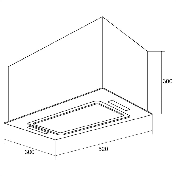 HEKTOR afzuigkap verlichting aluminium filter timer zwart Zwart | 52 cm | met actieve koolfilter