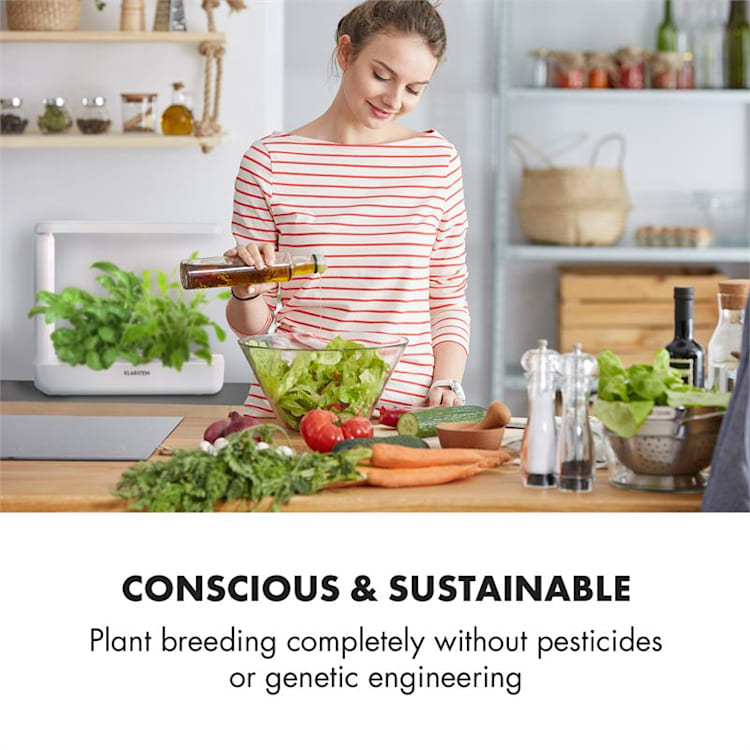 GrowIt Cuisine Starter Kit Asia 12 Plantas 25W LED Asia-Seeds Solução Nutrituva