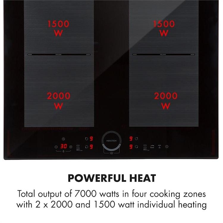 Kalahari Delicatessa Built-in Oven Set Induction Black Stainless Steel