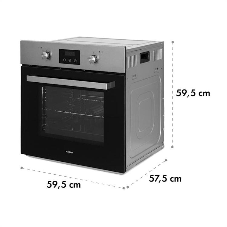 Kalahari Ignito set forno a incasso elettrico / a gas 68 litri nero acciaio inox