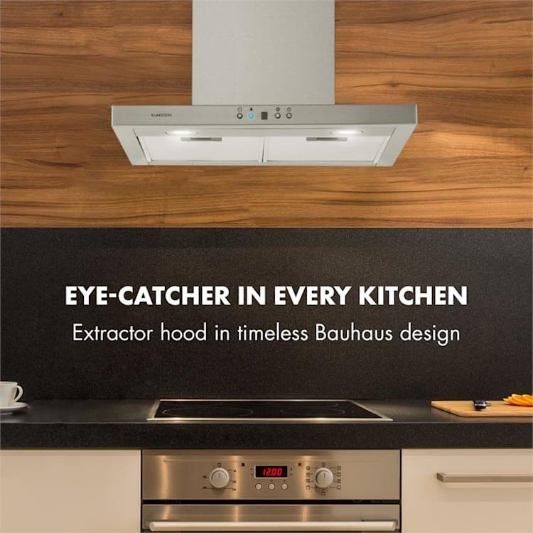 Kalahari Limelight, set ugradbena pećnica + kuhinjska napa, nehrđajući čelik, crna