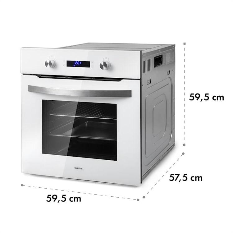Gusteau Delicatessa set forno a incasso e induzione 7000W 64L bianco acciaio inox