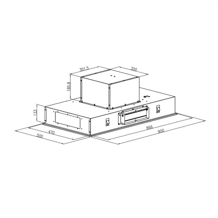 Gusteau Remy, beépíthető sütő szett, sütő + beépíthető páraelszívó, 2950W, rozsdamentes acél, fehér