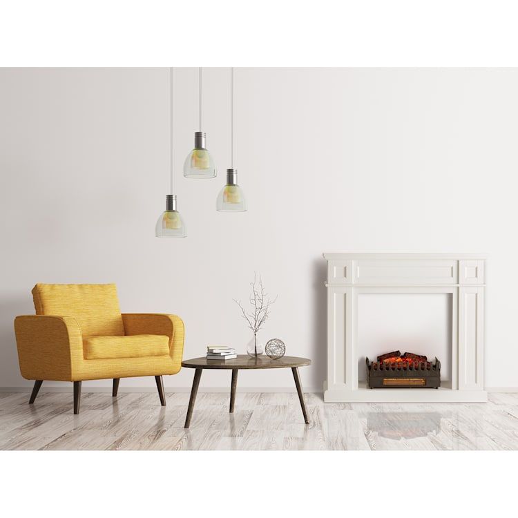 Lausanne Frame, kandallószerkezet, Kamini FX, kandallóbetét, 2000 W, MDF, fehér with fireplace inset with heating function