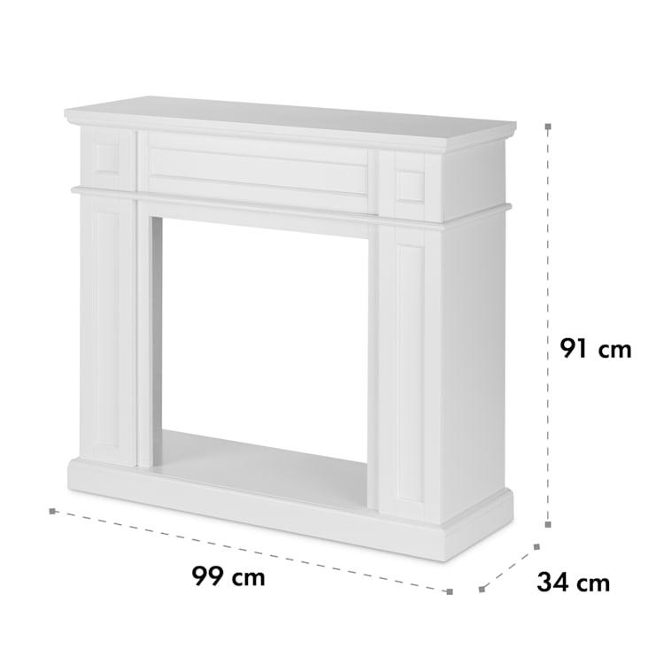 Lausanne Frame, kandallószerkezet, Kamini, kandallóbetét, MDF, fehér with fireplace inset without heating function