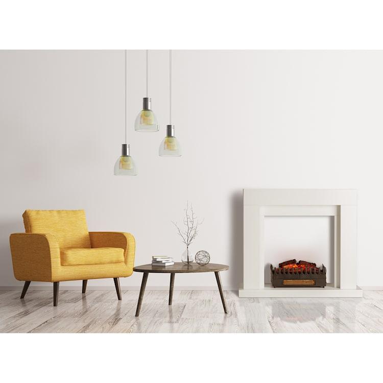 Studio Frame, kandallószerkezet, Kamini, kandallóbetét, 2000 W, MDF, fehér with fireplace inset without heating function