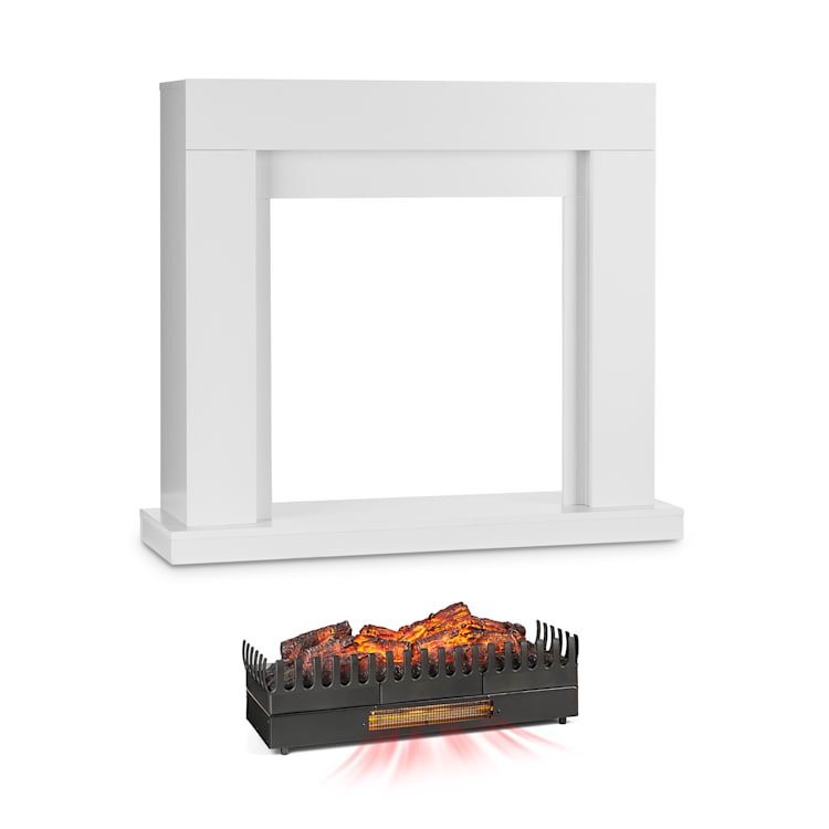 Studio Frame, kandallószerkezet, Kamini FXL, kandallóbetét, 2000 W, MDF, fehér with large fireplace inset with heating function