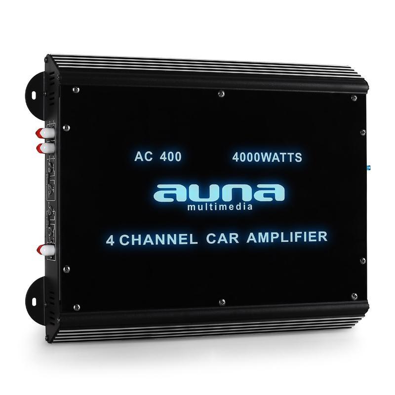Auna-W2-Ac400, 4-kanálový zesilovač do auta, 4000 W