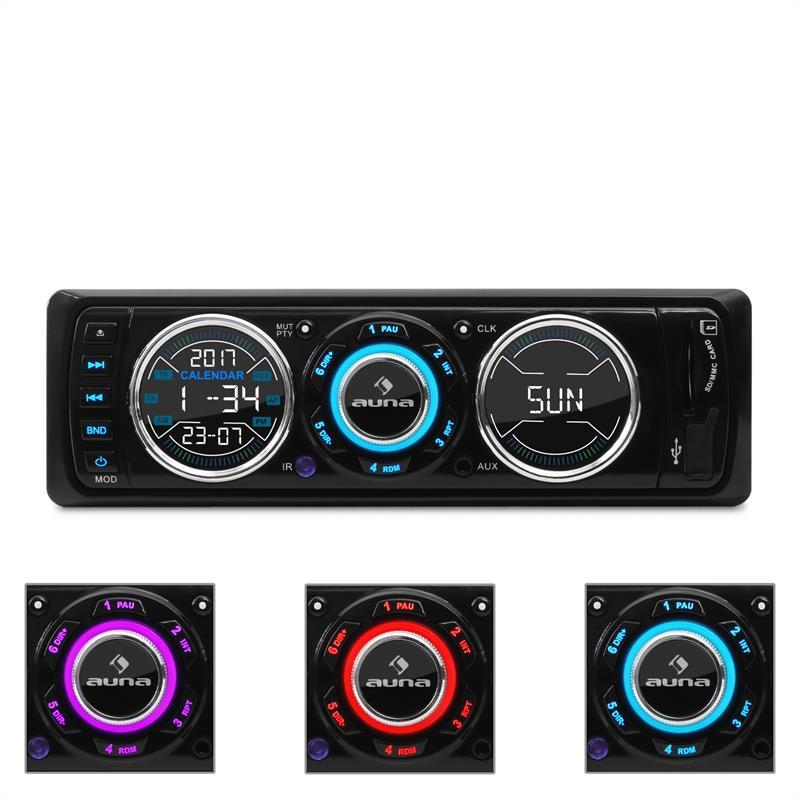 Autorádio Auna MD-180 UKW RDS USB SD MP3 AUX Design