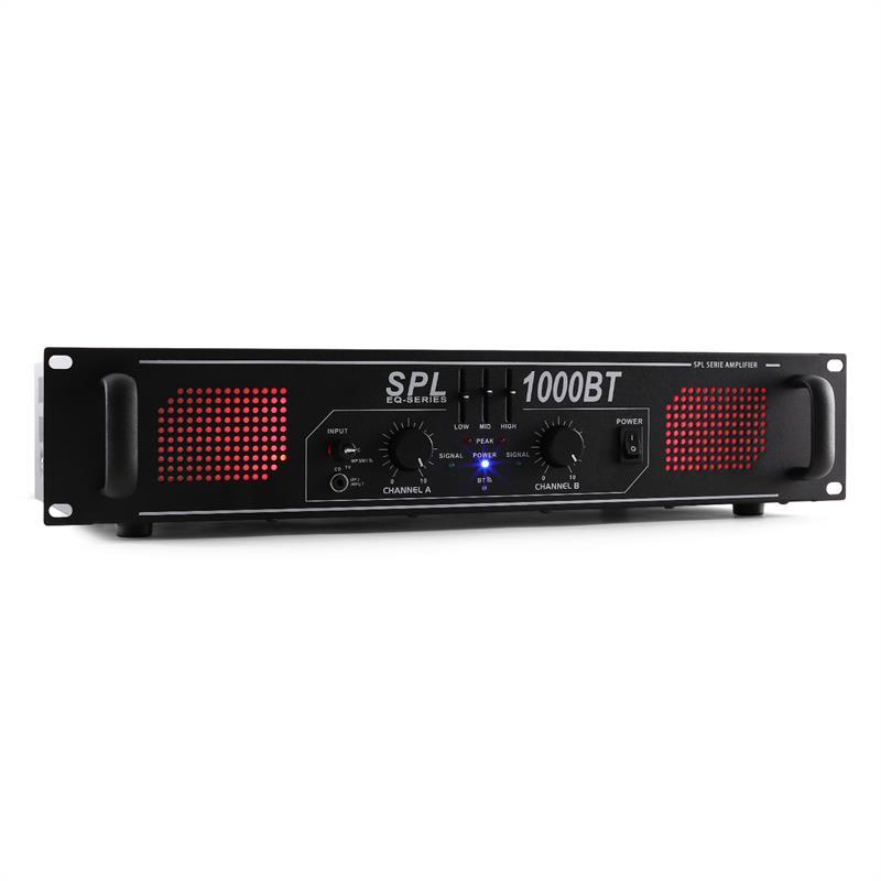 Skytec SPL-1000 BT černý, zesilovač 1000W, bluetooth, AUX