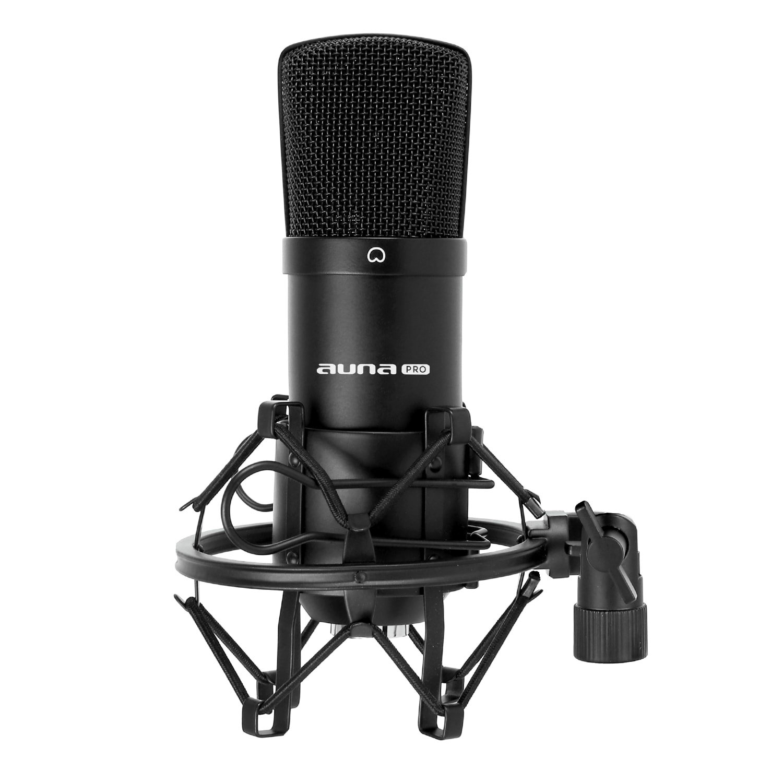 Auna Pro CM001B studiový mikrofon černý, nástroje, XLR