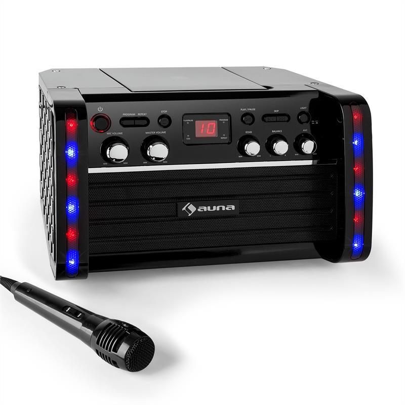 Levně Auna Disco Fever, karaoke systém, CD/CD + G přehrávač