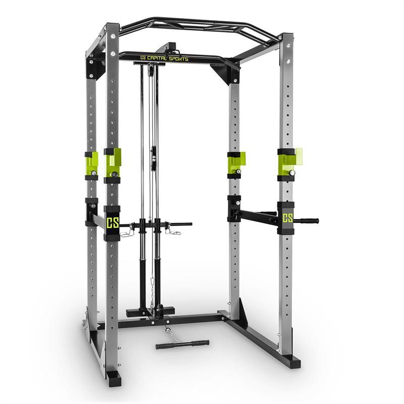Capital Sports Tremendour Pl Power Rack, zelený, domácí posilovna, kladka, ocel