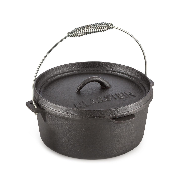 Levně Hotrod 45, litinový hrnec, BBQ hrnec, 4.5 qt/4 l, litina, černý