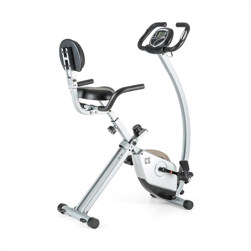 Capital Sports Trajector, kolo - domácí trenažér, X-bike, opěrka zad, držák sedadla, skládací, 110 kg