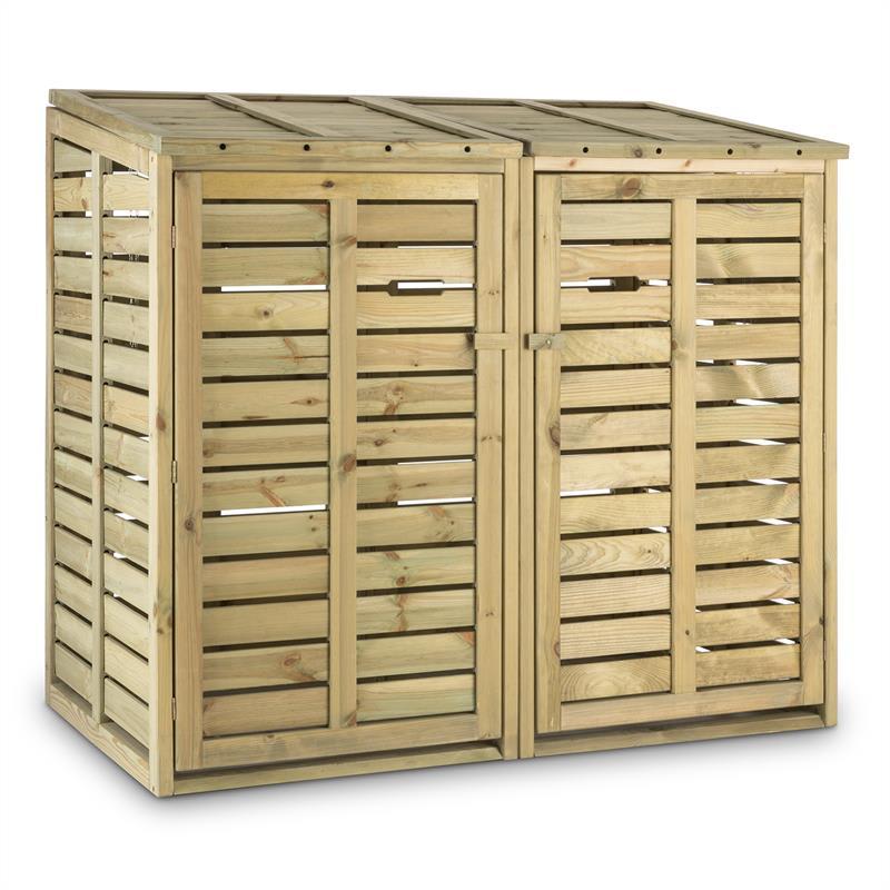 Waldbeck Ordnungshüter 2T, box na popelnice, 145 x 130 x 87 cm (ŠxVxH), 2 koše, FSC - borovice