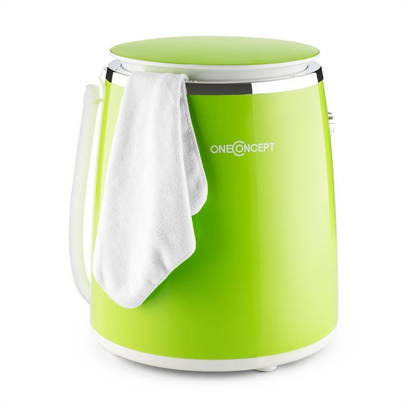 OneConcept Ecowash-Pico, zelená, mini pračka, funkce ždímání, 3,5 kg, 380 W