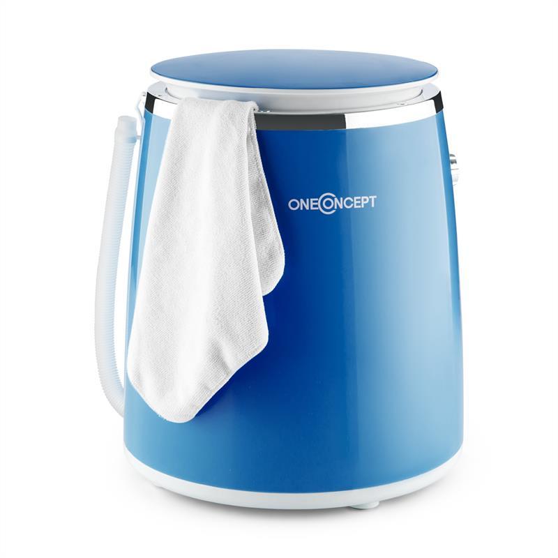 OneConcept Ecowash-Pico, modrá, mini pračka, funkce ždímání, 3,5 kg, 380 W