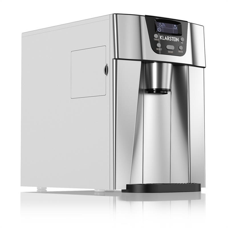 Klarstein ICE VOLCANO 2 GB, stříbrný, ZAŘÍZENÍ NA VÝROBU LEDU, LED, 12 KG/24hod