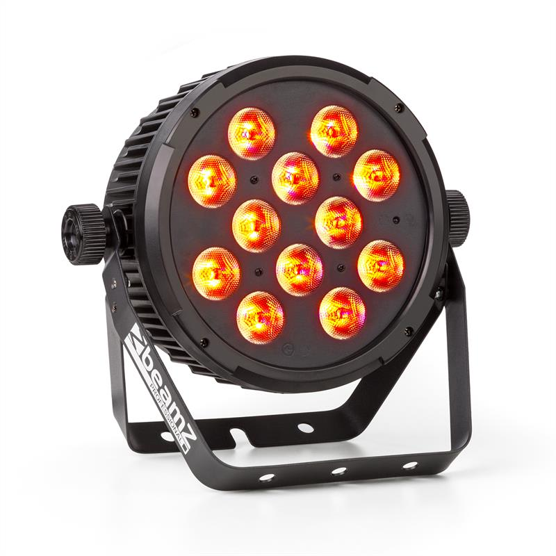 Beamz BT300, 12x12W, FlatPAR reflektor, RGBAW LED 6 v 1, DMX, IR, dálkový ovladač