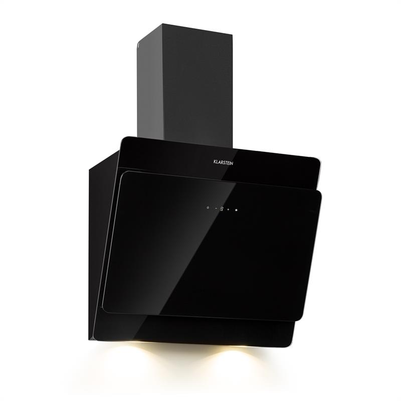 Klarstein Aurica 60, digestor, 165W, 3 stupne, 620m³/h, LED, sklo, čierny