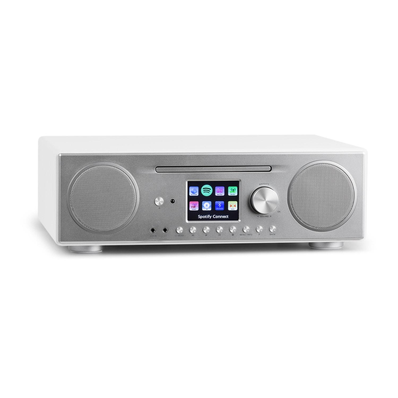 Auna Connect CD, internetové rádio, mediální přehrávač, BT, MP3, DAB +, Spotify, connect radio, bílé