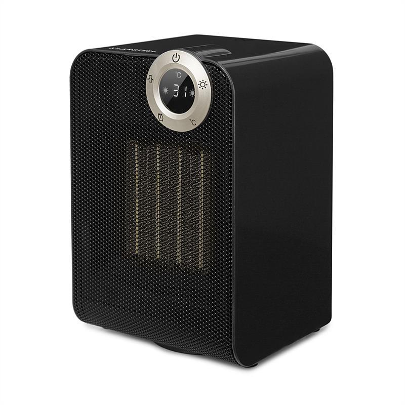Klarstein Cozy Cube, keramický ohřívač, teplovzdušný, 900 / 1800W, náklon, 10-35 ° C, černý