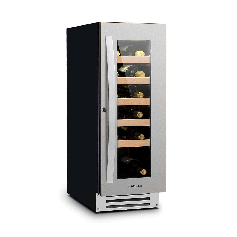 Levně Vinovilla Smart, chladnička na víno, 50 l/20 lahví, skleněné dveře, nerezová ocel