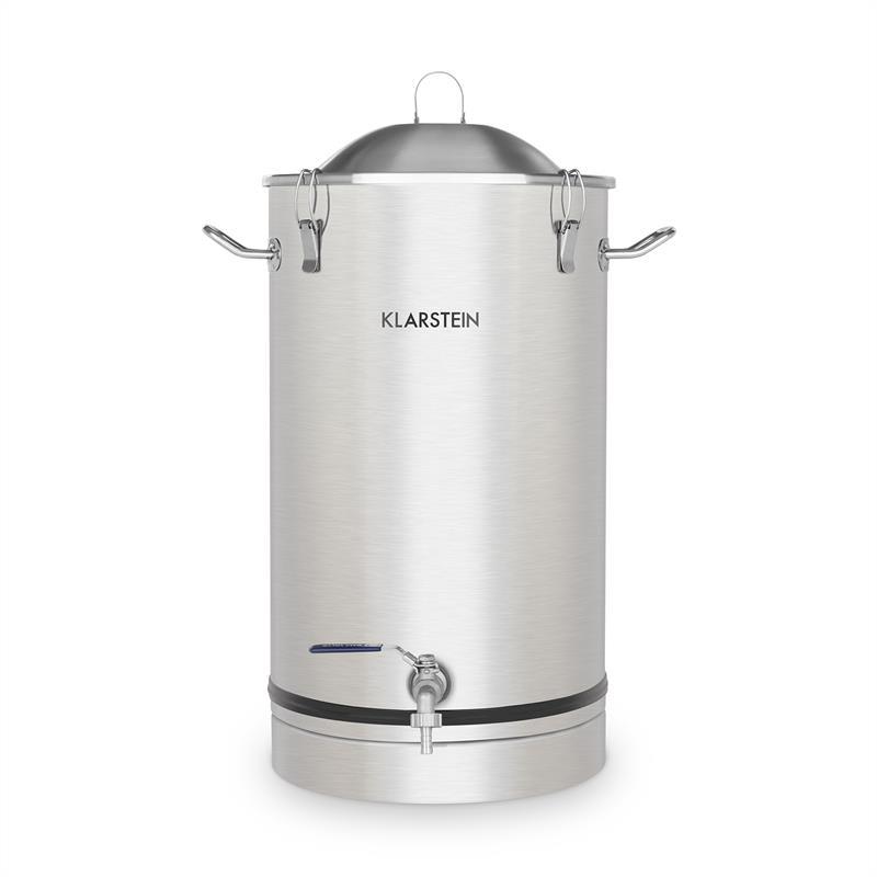 Klarstein Maischfest, fermentační kotel, 30 litrů, kvasná trubka, nerezová ocel 304