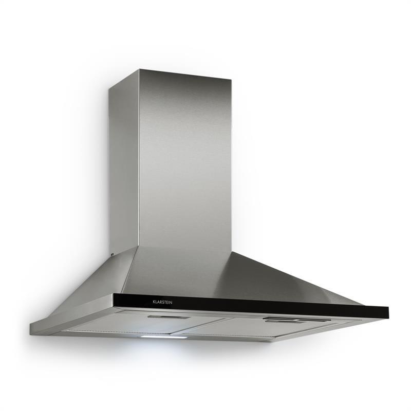 Klarstein Galina, digestor, 60cm, 350m³/h, LED, nerezová oceľ, akrylové sklo